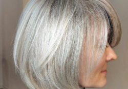Short Hairstyles For Women Over 50 Grey Straight Bangs Bob Jpg