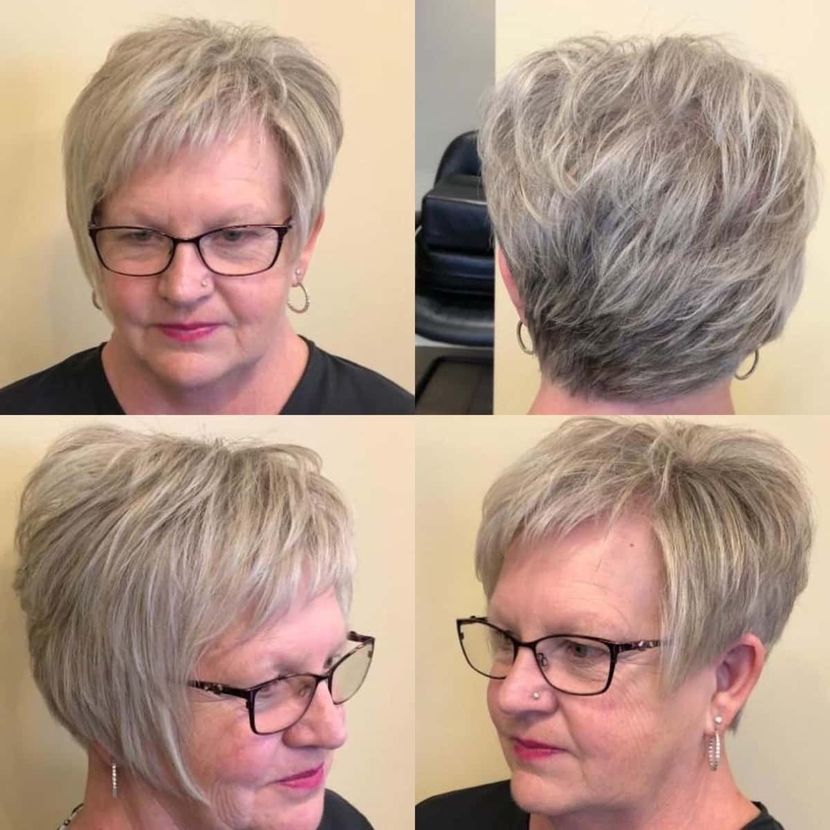 Edgy Pixie Bob With Glasses For 60 Year Old Women Jpg