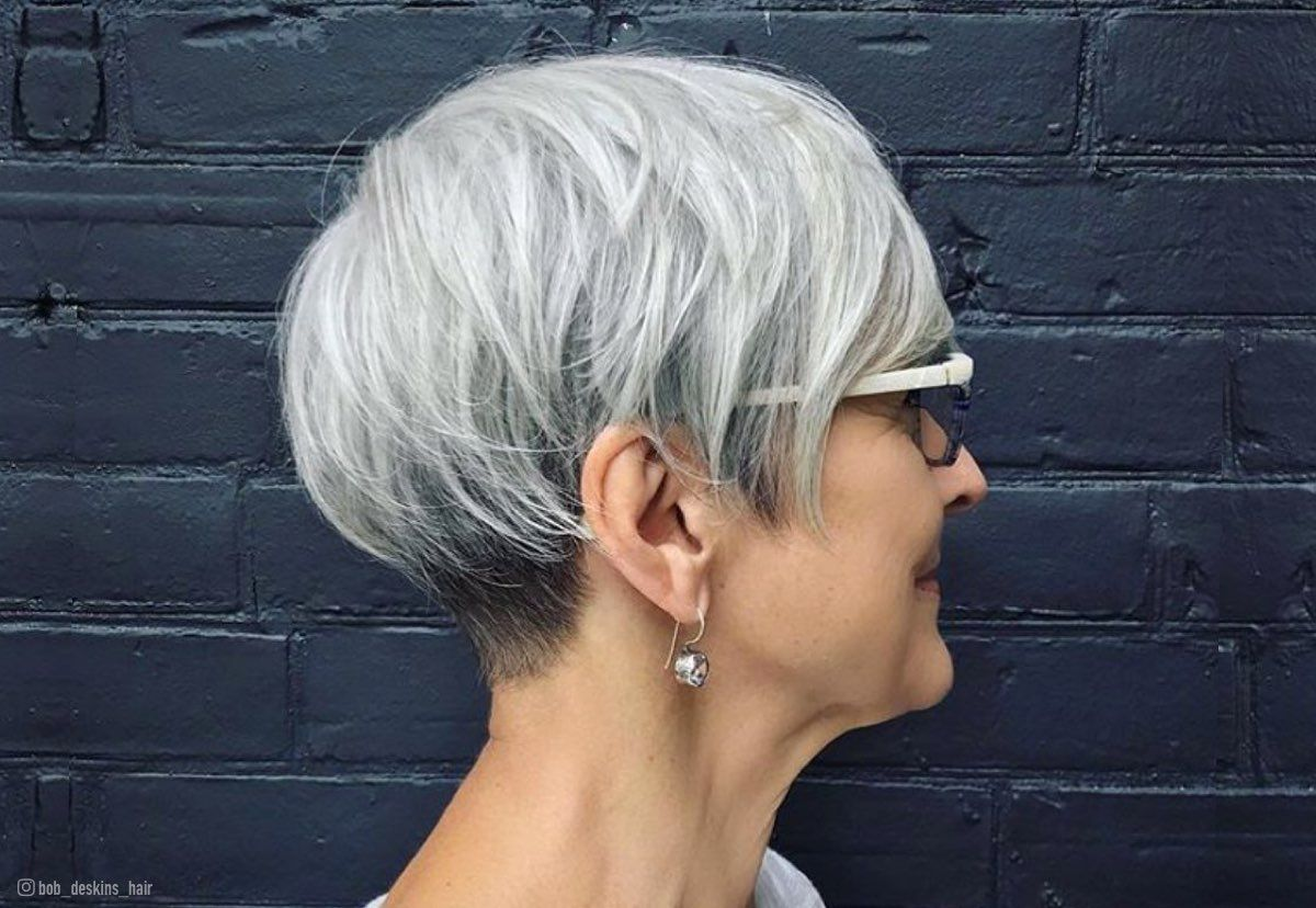 Short Haircuts For Women Over 60 With Glasses Jpg